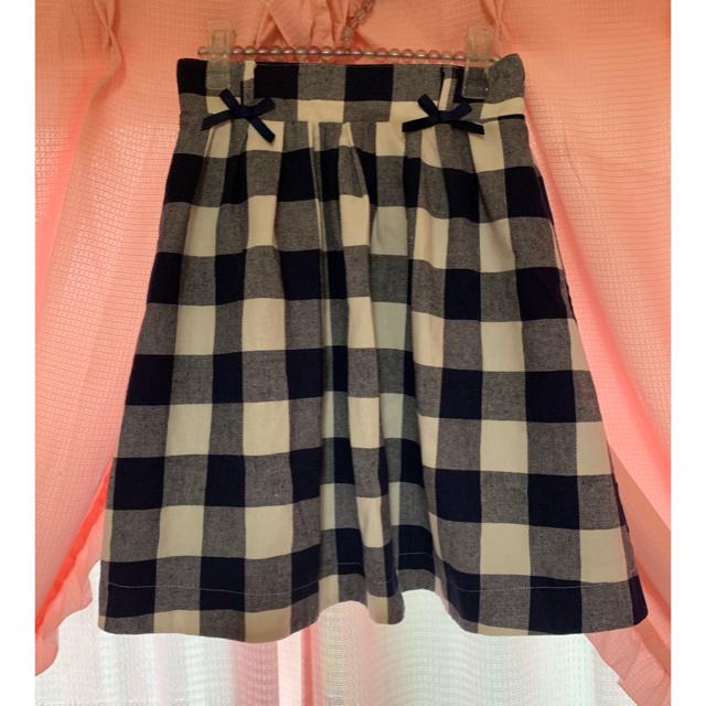 LIZ LISA(リズリサ)のリズリサ♡ウエストリボン付膝丈チェックスカート レディースのスカート(ひざ丈スカート)の商品写真