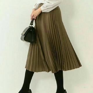 UNITED ARROWS - サテンプリーツスカート