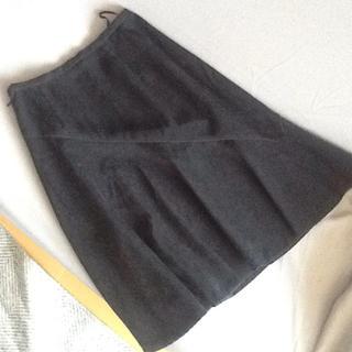 コムサデモード(COMME CA DU MODE)のコムサ 秋冬 ブラック膝丈スカート(ひざ丈スカート)