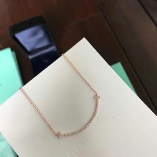 Tiffany & Co. - ティファニー Tスマイル ダイヤモンド ネックレス