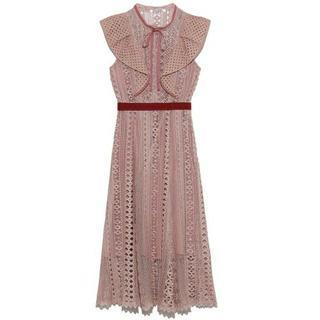snidel - スナイデル レースフリルワンピース snidel lilybrown ドレス