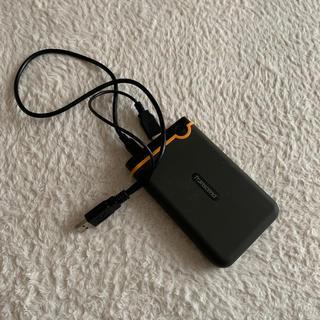 トランセンド(Transcend)のトランセンド 外付け1TB ハードディスク 頑丈(PC周辺機器)