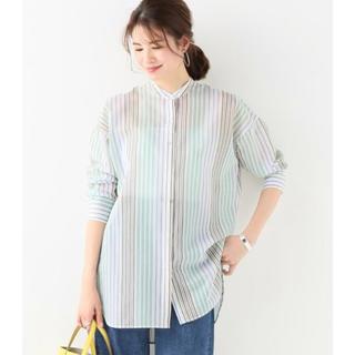 イエナ(IENA)のIENA☆マルチストライプバンドカラーロングシャツ(シャツ/ブラウス(長袖/七分))