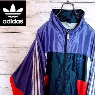 アディダス(adidas)の【⬇値下げ中¥9800】90s アディダス ナイロンジャケット マルチカラー(ナイロンジャケット)