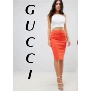 グッチ(Gucci)の新品タグ付き 素敵なGUCCI グッチ ミディアムスカート(ひざ丈スカート)