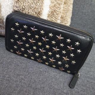 JIMMY CHOO - 正規品☆ジミーチュウ 長財布 フィリッパ 黒 星スタッズ レザー バッグ 財布