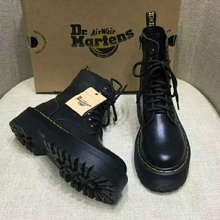 Dr.Martens - Dr. Martens  ドクターマーチン 厚底ブーツ 8ホール黒 UK6