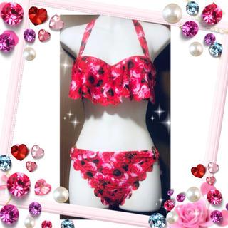 dazzy store - バラ柄 花柄 ビキニ