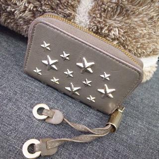 JIMMY CHOO - 正規品☆ジミーチュウ コインケース 小銭入れ グレー 星スタッズ バッグ 財布