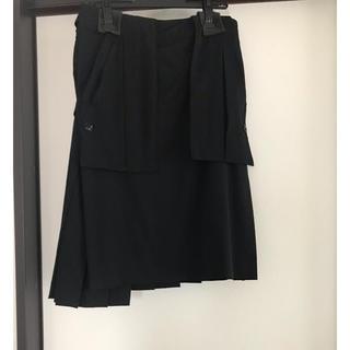 ヨウジヤマモト(Yohji Yamamoto)の16AW ウールギャバジンダブルポケットラップスカート/新品未使用(その他)