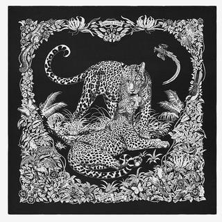 Hermes - エルメス カシミヤシルク ジャングルラブ 黒 新品 本物