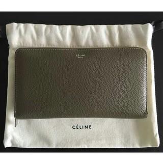 celine - CELINE ラウンドジップ 長財布