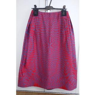 ドゥロワー(Drawer)のブラミンクblaminkシダ柄ジャガードスカート38未使用品ドゥロワーebure(ひざ丈スカート)