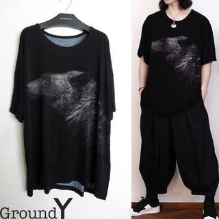 Yohji Yamamoto - Ground Y BEAR BIG Tシャツ ビッグカットソー ヨウジヤマモト