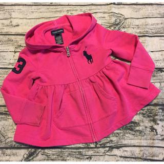 Ralph Lauren - Ralph Lauren 濃いピンク フード付きジップワンピース 3歳