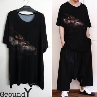 Yohji Yamamoto - Ground Y DEER BIG Tシャツ ビッグカットソー ヨウジヤマモト