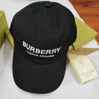 BURBERRY - 美品!バーバリー キャップ 帽 シンプル 刺繍ロゴ 男女兼用