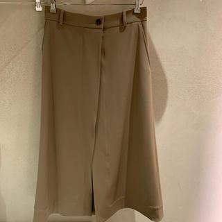 セリーヌ(celine)の【新品未使用】CELINE スリットスカート コットン ベージュ size36(ロングスカート)