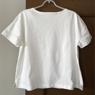 MUJI (無印良品) - 無印良品 太番手ボートネックワイドTシャツM〜L