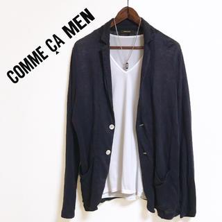 COMME CA MEN - COMME CA MEN ニットカーディガン リネンジャケット サマージャケット
