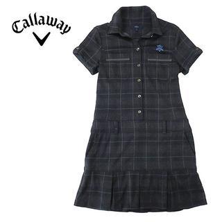 キャロウェイゴルフ(Callaway Golf)のcallaway キャロウェイ ラインチェック◎速乾ストレッチワンピース(ひざ丈ワンピース)