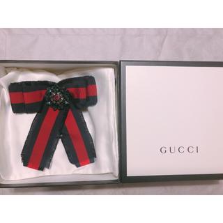Gucci - GUCCI グログラン ボウ ブローチ リボン