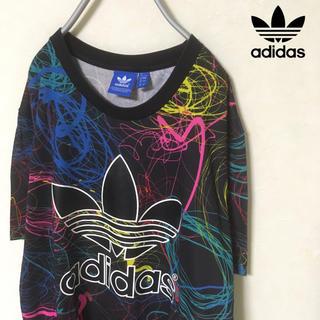 adidas - 【ネオン柄】adidas originals 総柄 トレフォイル Tシャツ