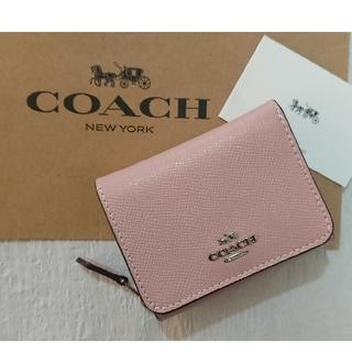 COACH - 値下げ❗大人気❗【2019 最新作 】コーチ三つ折り財布  カーネーション