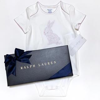 Ralph Lauren - 新品 ラルフローレン 12M/80 ラビット刺繍ボディースーツ