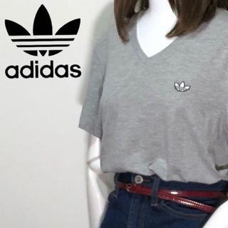 adidas - 【01-580】アディダスオリジナルス 半袖Tシャツ ワンポイント 着丈長め