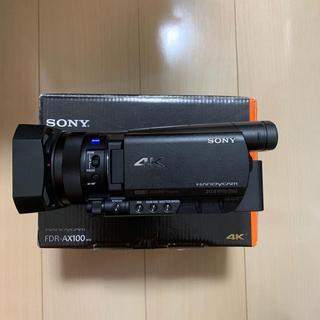 SONY - SONY 4Kビデオカメラ FDR-AX100 + 64GB SDカード