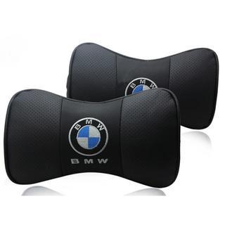 BMW - BMW ロゴ入りき 本革 ネックパッド 2個セット