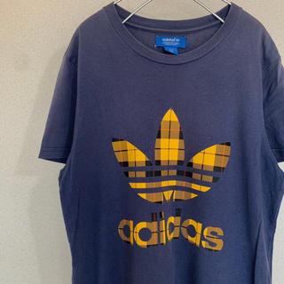 アディダス オリジナルス Mサイズ チェックロゴ Tシャツ