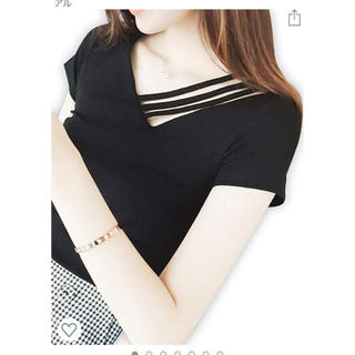 イング(INGNI)のVネック Tシャツ レディース 半袖 カジュアル(Tシャツ(半袖/袖なし))