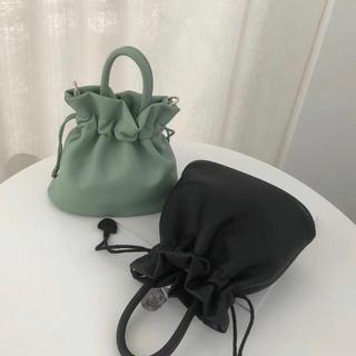 dholic - 【ブラック/黒】ミニバケットショルダーバッグ 巾着バッグ