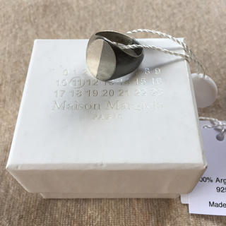 Maison Martin Margiela - 19AW新品S マルジェラ ツートーン シグネットリング オーバル 今期