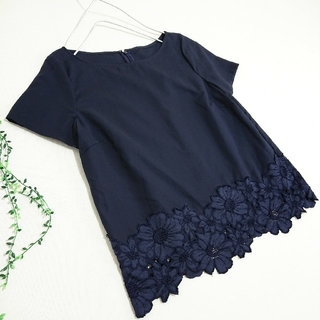 Demi-Luxe BEAMS - Demi-Lux:e Beams *裾花レース ブラウスカットソー*