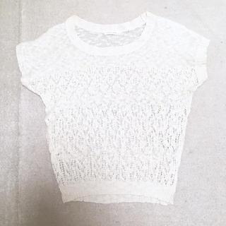 ローリーズファーム(LOWRYS FARM)の透かし編みサマーニット(ニット/セーター)