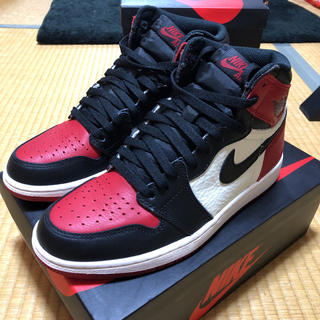 ナイキ(NIKE)のair jordan 1 retro high og bredtoe(スニーカー)