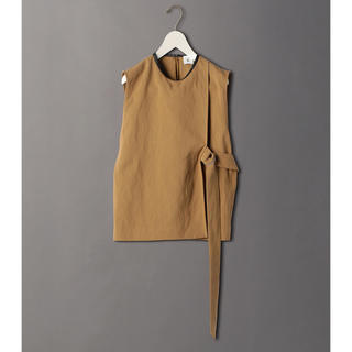 BEAUTY&YOUTH UNITED ARROWS - 6(ROKU) LEATHER PIPING NO SLEEVE SHIRT