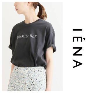 イエナ(IENA)のIENA ロゴプリントTシャツ グレー 2019SS(Tシャツ(半袖/袖なし))