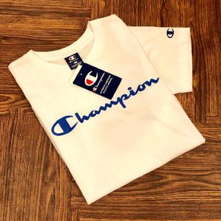 Champion - 新品☆ チャンピオン 筆記体 ロゴ Tシャツ 半袖 ホワイト champion