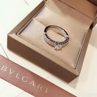 BVLGARI - BVLGARI  K18PG ダイヤモンド リング