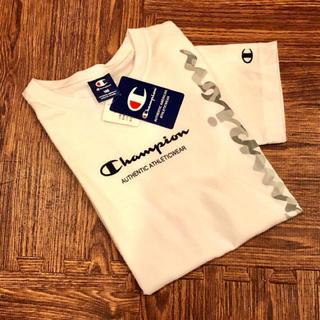 Champion - 新品☆ チャンピオン カモフラ 縦 ロゴ Tシャツ 半袖 白 champion