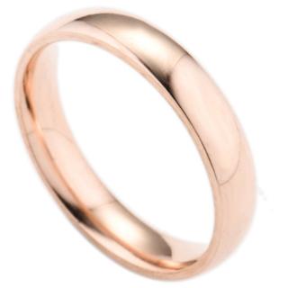 シンプルなファッションリング(ピンクゴールド)(リング(指輪))