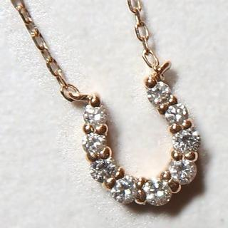 4℃ - 4℃ K18 馬蹄 ネックレス ダイヤ ピンクゴールド