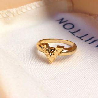 ルイヴィトン(LOUIS VUITTON)のLVルイヴィトンの最新のV花の指輪(リング(指輪))