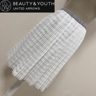 ビューティアンドユースユナイテッドアローズ(BEAUTY&YOUTH UNITED ARROWS)のユナイテッドアローズ プリーツスカート(ひざ丈スカート)
