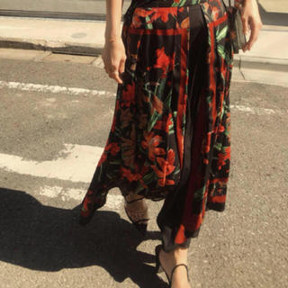 Ameri VINTAGE -  アメリヴィンテージ   SCARF FLARE SKIRT