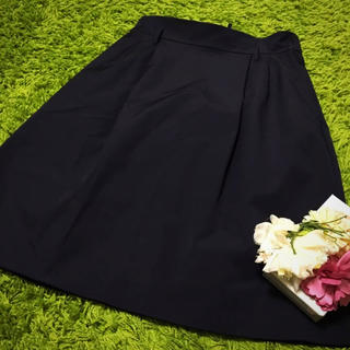フォクシー(FOXEY)の美品フォクシー❤︎レディベーシックスカート黒(ひざ丈スカート)